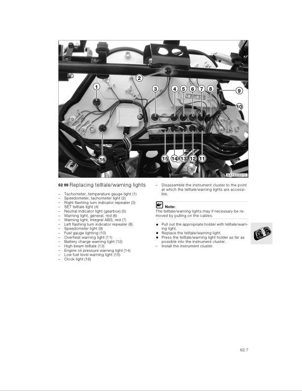 Dash Cluster Bulb Change - K-Bikes com - Excellence in Motion